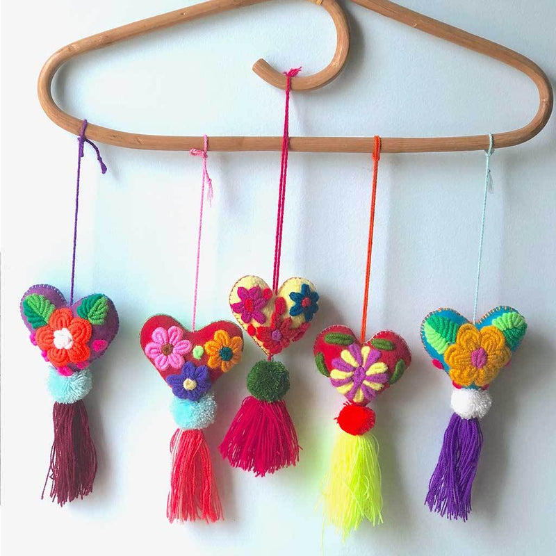 Embroidered handmade pom-poms and tassels The Fox and the Mermaid