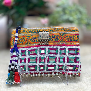 Indian boho beaded  clutch - The Fox and the Mermaid