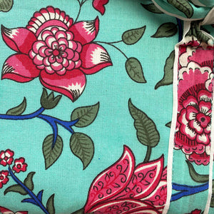 floral detail on pajamas  The Fox and the Mermaid