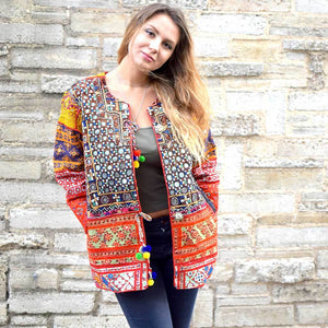 Embroidered Banjara Jacket made from Vintage Textiles - The Fox and The Mermaid