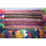 Large Hmong Embroidered Clutch with Pom-Poms (various colors) - The Fox and The Mermaid - 5