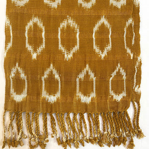 mustard colored handwoven scarf - The Fox and the Mermaid
