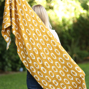 Mustard Chalina Shawl - The Fox and the Mermaid
