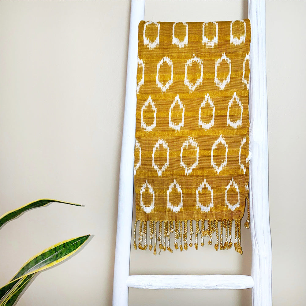 mustard colored guatemalan scarf - The Fox and the Mermaid