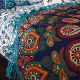 The Gypsy Wanderer Mandala Roundie with Green Fringe - The Fox and The Mermaid - 6