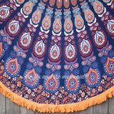Gypsy Soul Mandala Roundie with Orange Fringe - The Fox and The Mermaid - 2