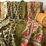 Olive Green Kantha Quilt The Fox and the Mermaid