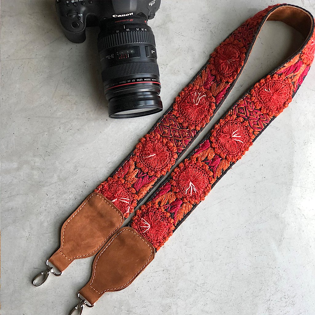 Orange Floral strap The Fox and the Mermaid