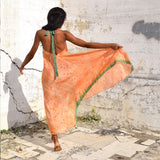 orange silk vintage dress The Fox and the Mermaid