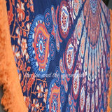 Gypsy Soul Mandala Roundie with Orange Fringe - The Fox and The Mermaid - 3