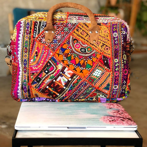 Embroidered Vintage Banjara Computer Bag