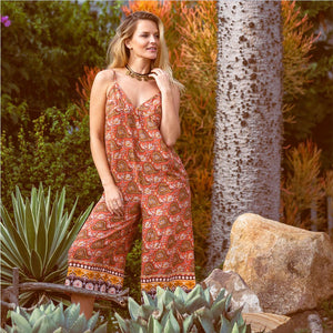 Orange and Brown jumpsuit The Fox and the Mermaid