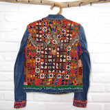 Large embroidered denim festival jacket  The Fox and the Mermaid