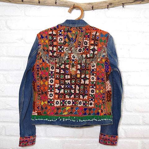 Embellished Denim Banjara Jacket (M)