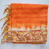 Vintage Hand-Stitched Kantha Scarf - The Fox and The Mermaid - 2