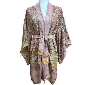 vintage silk robe made from indian sarees  - THE FOX AND THE MERMAID