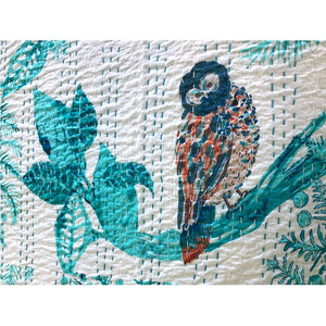 indian handmade quilt The Fox and the Mermaid
