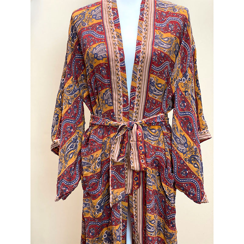 bohemian style vintage robe kimono - The Fox and the Mermaid