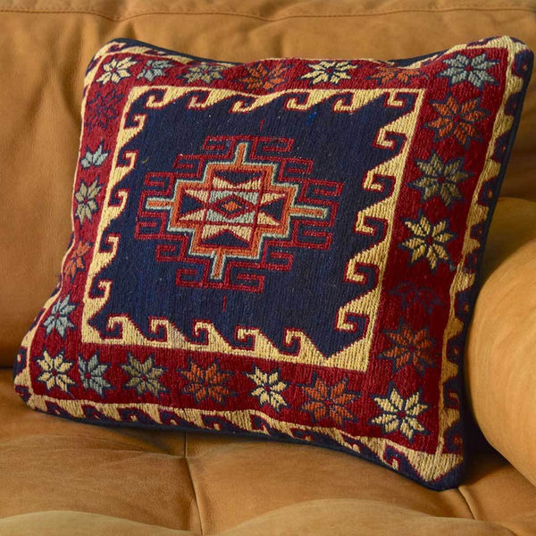 Vintage Kilim Woven pillow The Fox and the Mermaid