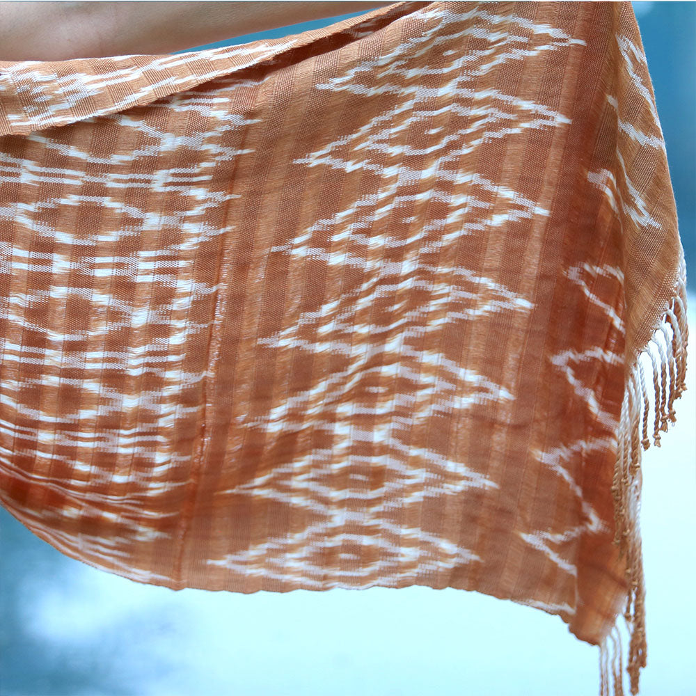 Handwoven Brown naturally Dyed Shawl - The Fox and the Mermaid