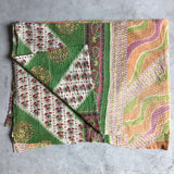 Vintage Kantha Quilt The Fox and the Mermaid