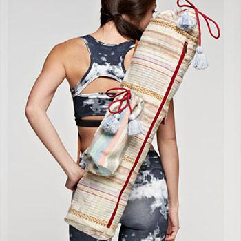 Multi-colored Tapestry Yoga Mat Bag - The Fox and The Mermaid