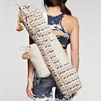 Geo-Inspired Tapestry Yoga Mat Bag - The Fox and The Mermaid