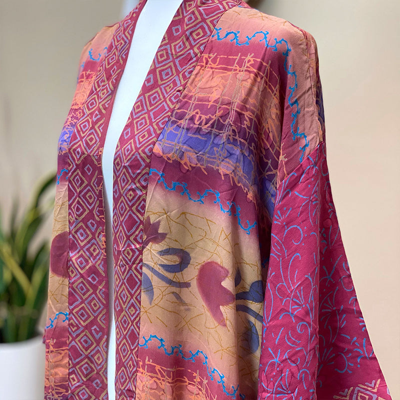 Vintage Silk Waterfall kimono - The Fox and the Mermaid