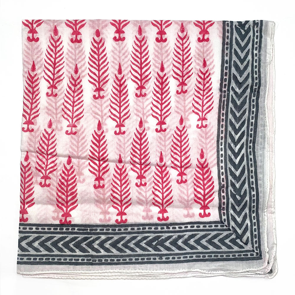 pink and gray bandana headscarf - The Fox and the Mermaid
