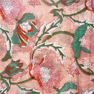 detail of block printed sarong - The Fox and the Mermaid