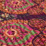 Purple and Green Mandala Kantha Quilt - The Fox and The Mermaid - 4