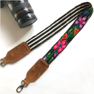 Bright floral camera strap The Fox and the Mermaid