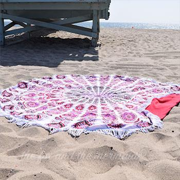 Valentina Round Beach Towel - The Fox and The Mermaid - 1