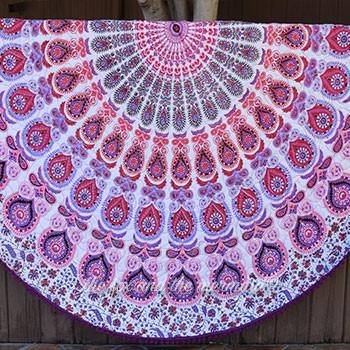 The Valentina Mandala Roundie Quilt with Pom-Poms - The Fox and The Mermaid - 1