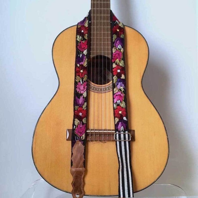 Huipil Guitar Strap - The Fox and The Mermaid