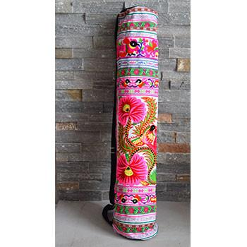 Embroidered Tribal Yoga Mat Bag - The Fox and The Mermaid - 1