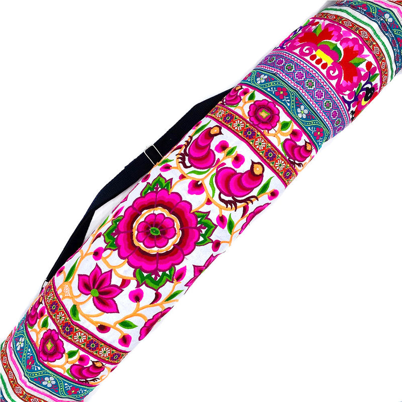 Embroidered Tribal Yoga Mat Bag - The Fox and The Mermaid