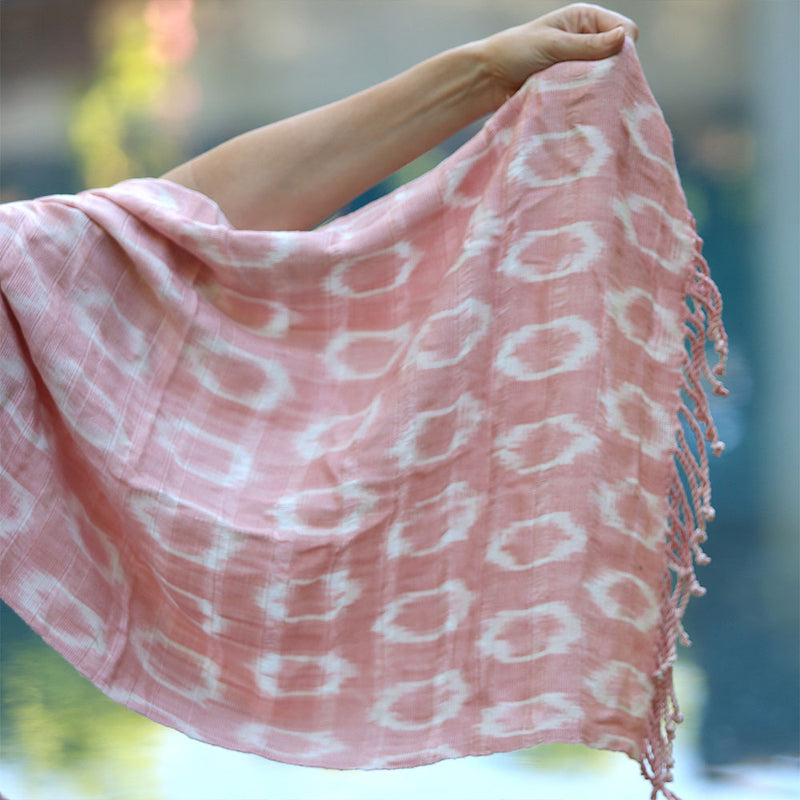 Pink Jaspe shawl - The Fox and the Mermaid