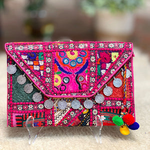 Pink Indian Banjara Purse - The Fox and the Mermaid