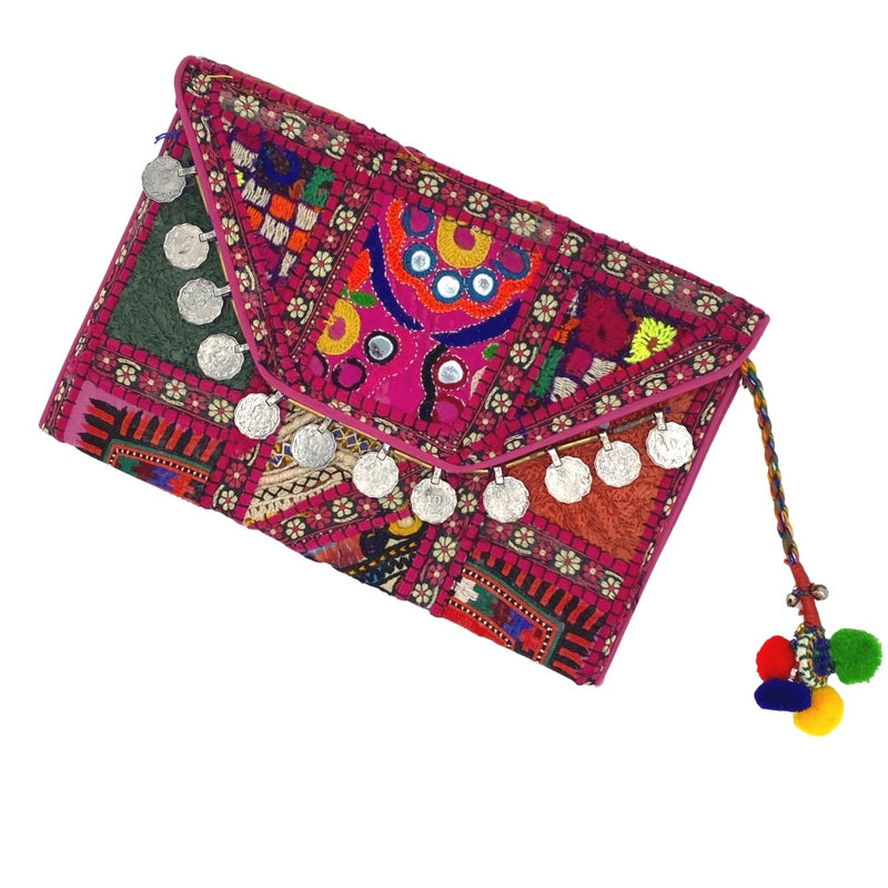 pink indian wallet bag with coins - The Fox and the Mermaid