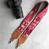 pink Embroidered Suede bag strap The Fox and the Mermaid