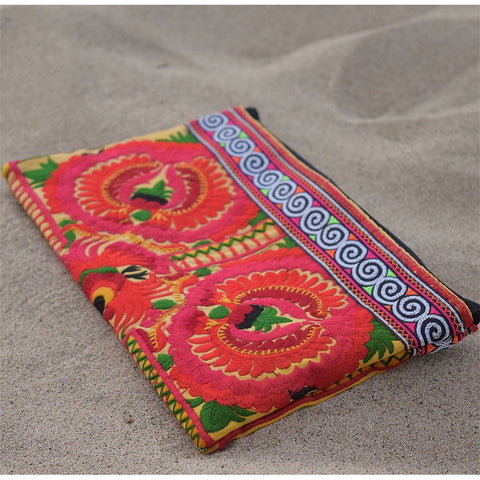 Hmong Embroidered Clutch archive