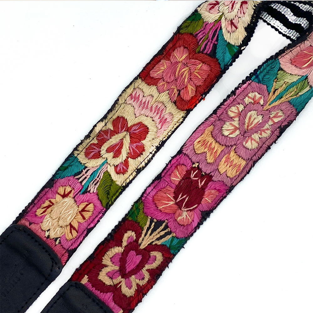 Embroidered bag strap detail - The Fox and the Mermaid