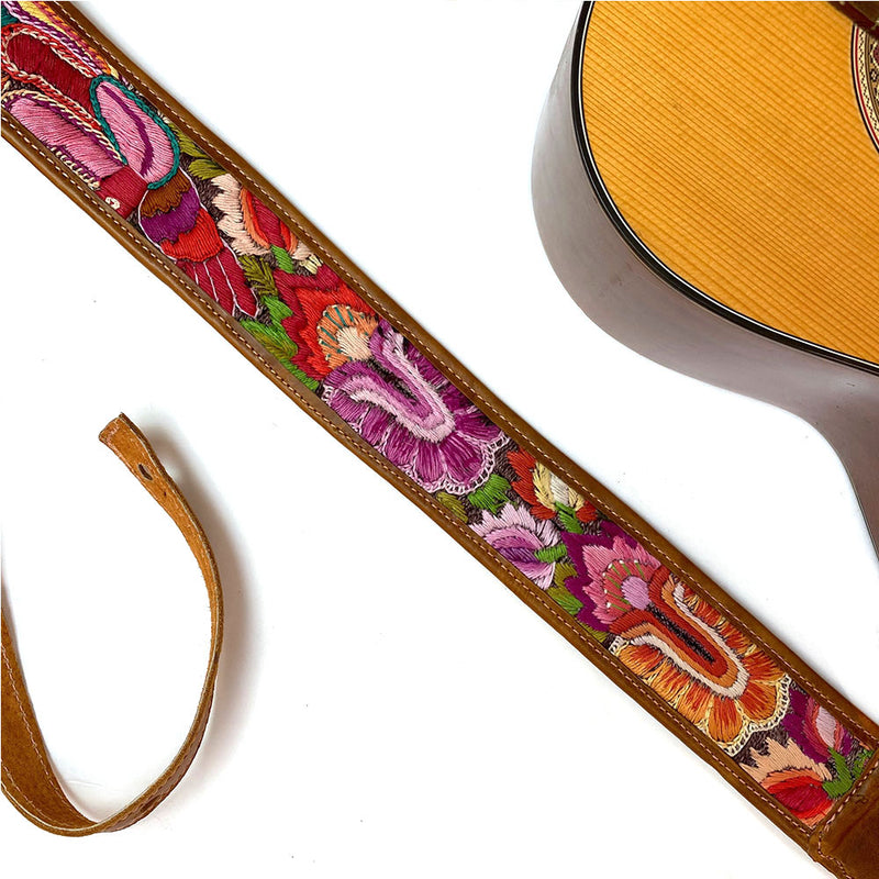 Accoustic  Guitar Strap - The Fox and the Mermaid