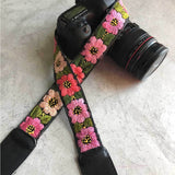 Camera Strap with Flowers The Fox and the Mermaid