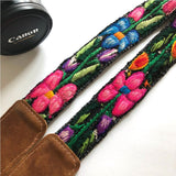 boho floral camera strap  The Fox and the Mermaid