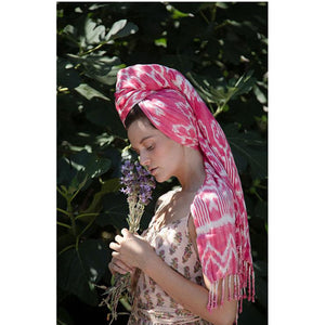 Pink Headscarf - The Fox and the Mermaid