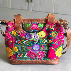 Embroidered Huipil Bag The Fox and the Mermaid