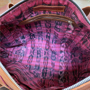 pink ikat lining backpack - The Fox and the Mermaid
