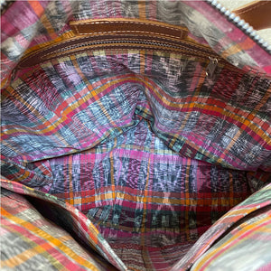 Ikat bag lining - The Fox and the Mermaid